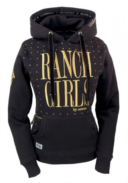 Ranchgirl Hooded Sweat Jacket Dot chocolate