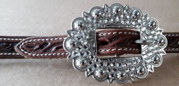Cattleman´s White Dots Buckle Set