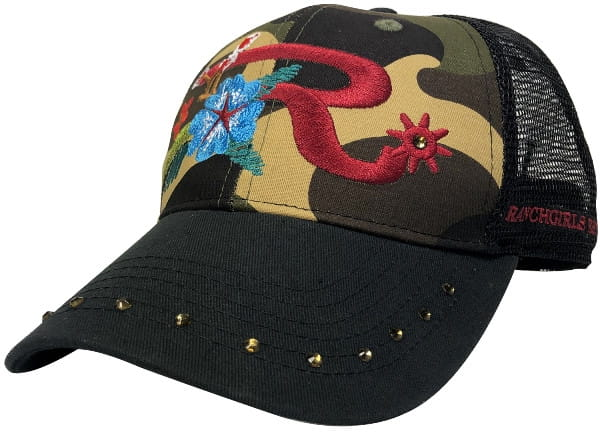 Ranchgirl Cap Flower Dark Camou