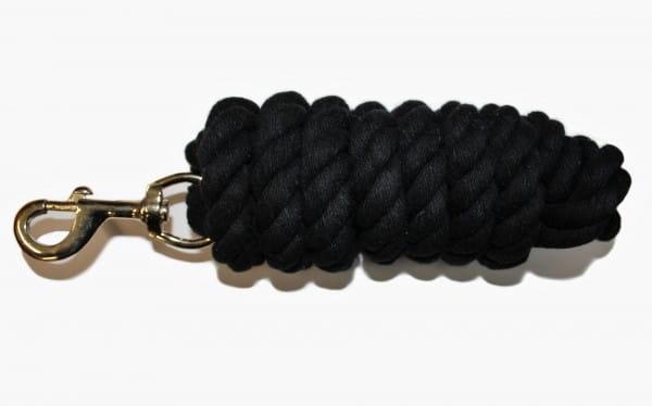 Baumwoll Anbindestrick 3m in schwarz