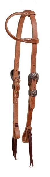 Ultimate Cowboy Gear Einohr Kopfstück Copper Floral