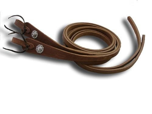 Buckaroo Heavy Weight Hermann Oak Antique Conchas Reins 5/8""