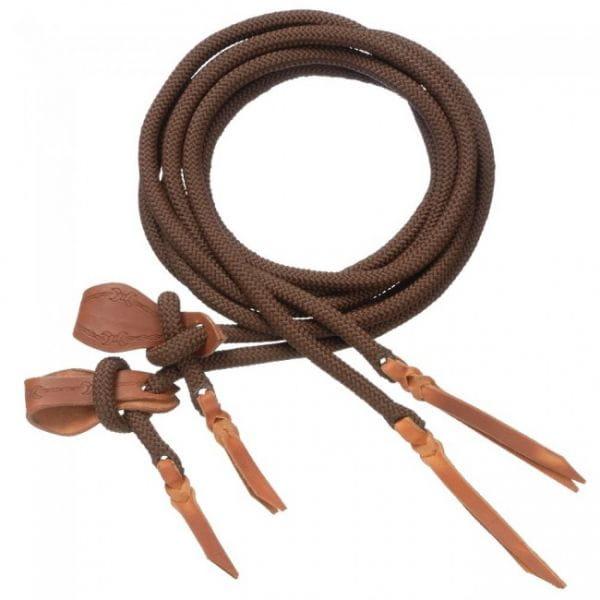 Cord Split Reins mit Slobber Straps in braun und schwarz