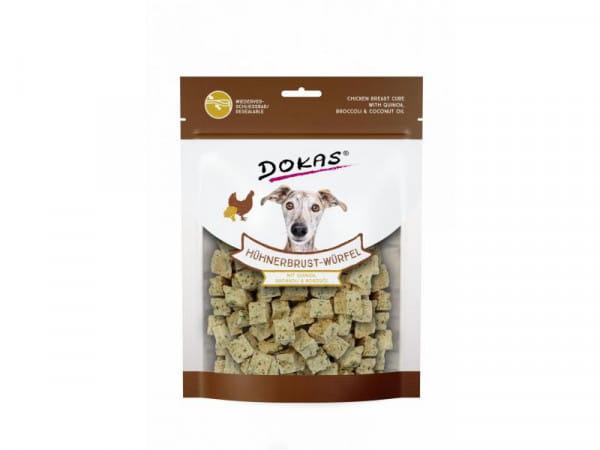 Dokas Hühnerbrust-Würfel mit Quinoa, Brokkoli & Kokosöl 150g