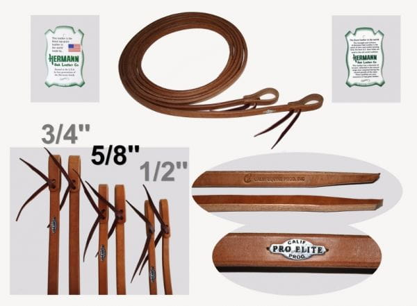 California Pro Elite Series High Premium Harness Reins 16mm