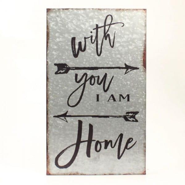 Metallbild with you i am home
