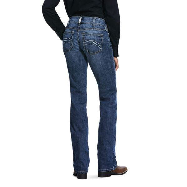 Ariat Womens Real Mid Rise Stretch Brooke Stackable Straight Leg Jeans