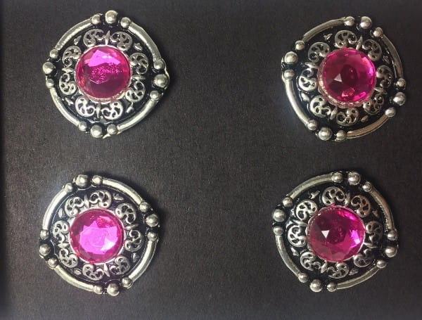 Magnetische Number Pins Arena Pins 4er Set in 5 versch. Farben