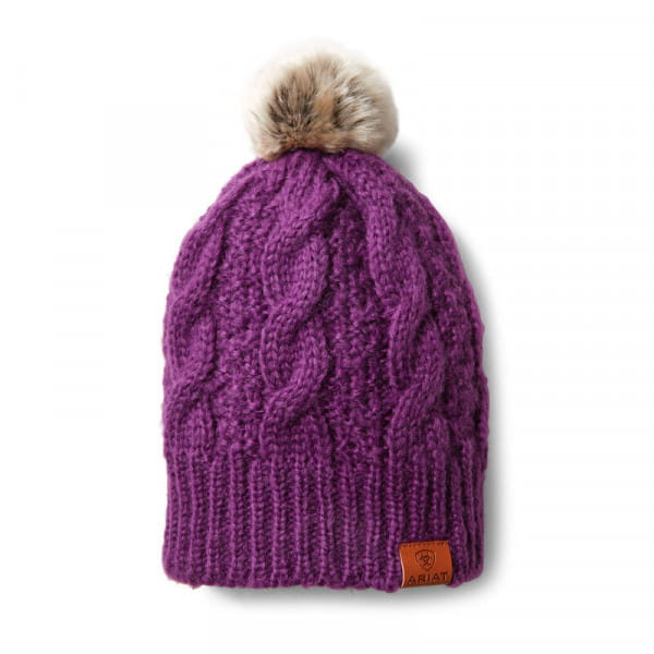 Ariat Cable Beanie Imperial Violet