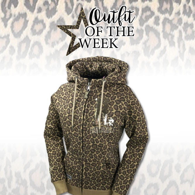 Ranchgirl Hooded Jacket Shiny Leopard