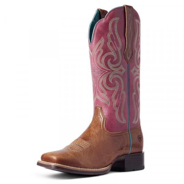 Ariat Womens Primera StretchFit Western Boot dark tan