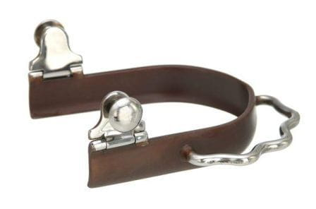 Kelly Silver Star Sidewinder Antique Brown Bumper Spurs