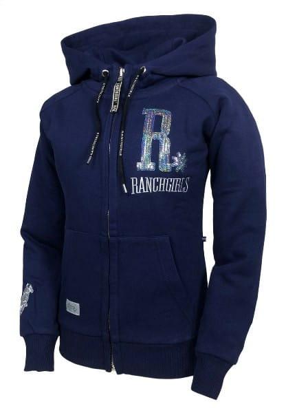 Ranchgirls Hooded JKT SHINY patriot blue & silver