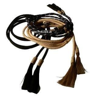 Rope Split Reins mit Rawhide und Horsehair-Tassels