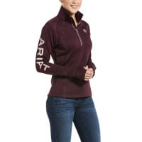 Ariat Womens Tek Team 1/2 Zip winetasting