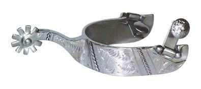 Metalab FG Collection Ladies Brushed Reining Show Spurs