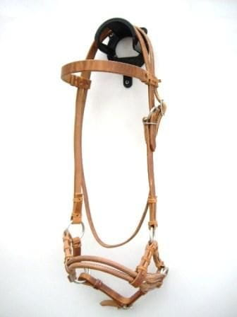 Sidepull Double Leathernose Harness