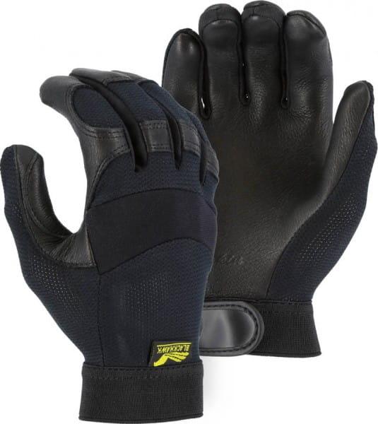 Majestic Black Hawk Deerskin Handschuh