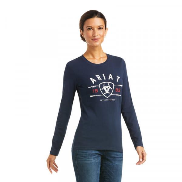 Ariat Womens International Logo T-Shirt navy melange