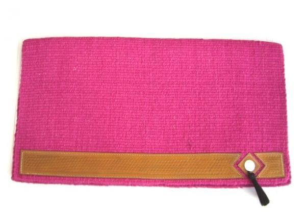 Show-Blanket Hot Pink mit Lederbesatz und Conchas