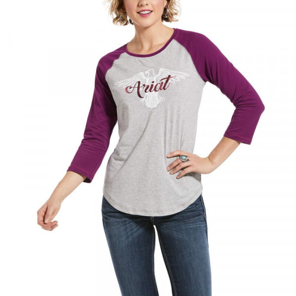 Ariat Womens Real Eagle Tee Heather