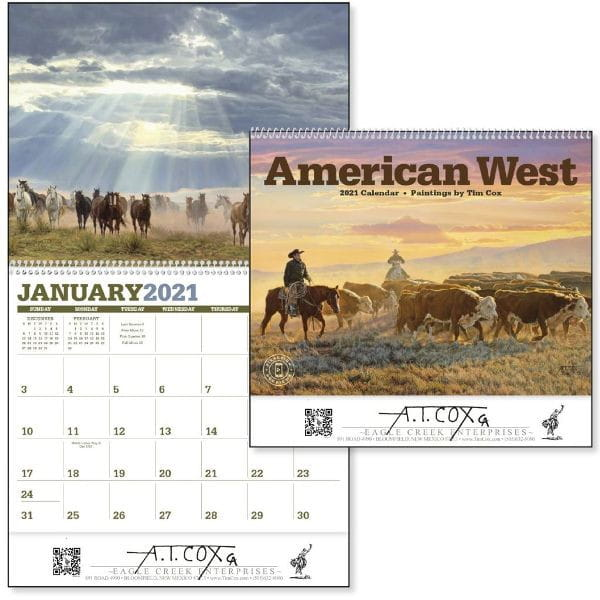 American West Westernkalender 2021 by Tim Cox