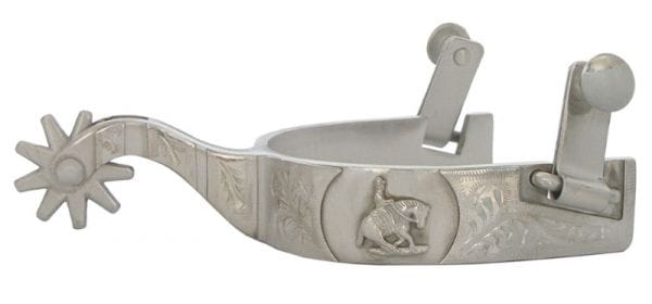 Showman Engraved Ladies Reining Spurs