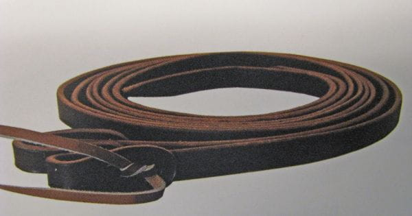 Buckaroo Dark Chocolate Harness Split Reins 5/8'