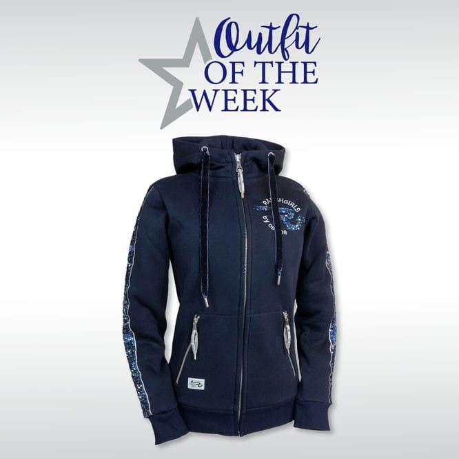 Ranchgirl Hooded Sweat Jacket Jazz night blue