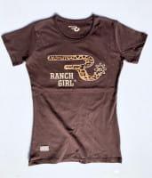 Ranchgirls Round Neck T-Shirt Leo choco