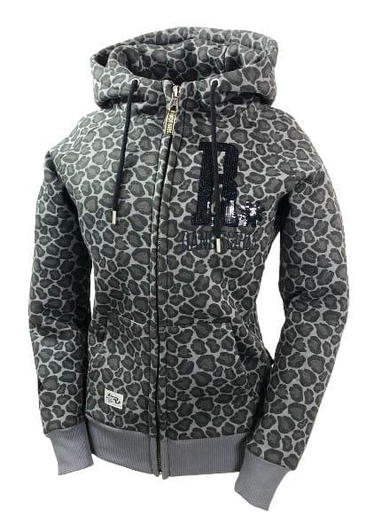 Ranchgirl Hooded Jacket Shiny black Leopard