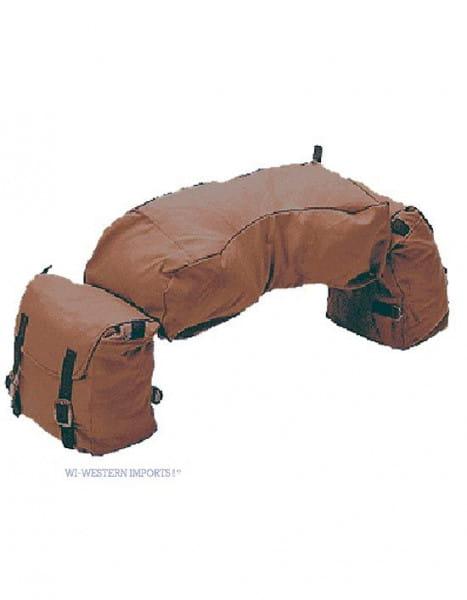 Braune Satteltasche mit Cantle Bag