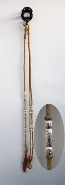 Schwere Silver Rawhide Romal Reins-Für die einhändige Zügelführung