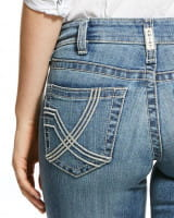 Ariat Womens Real Mid Rise Stretch Whitney Stackable Straight Leg Jeans