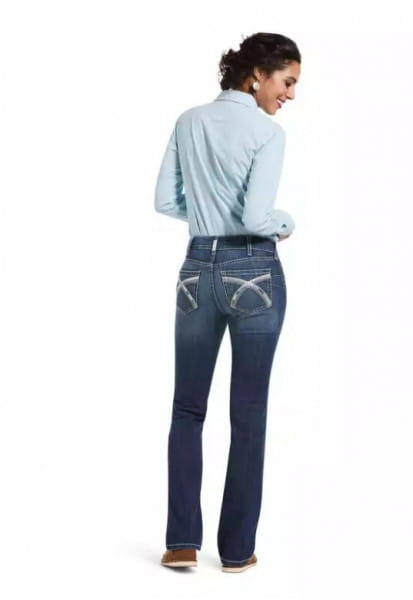 Ariat Womens Real Riding Perfect Rise Stretch Skyway Stackable Straight Leg Jeans