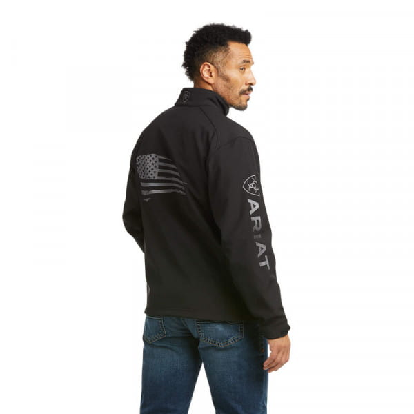 Ariat Mens Logo 2.0 Patriot Softshell Water Resistant Jacket black