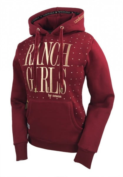 Ranchgirl Hooded Sweat Jacket Dot red vine