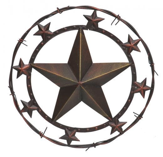 Iron wall star barbwire