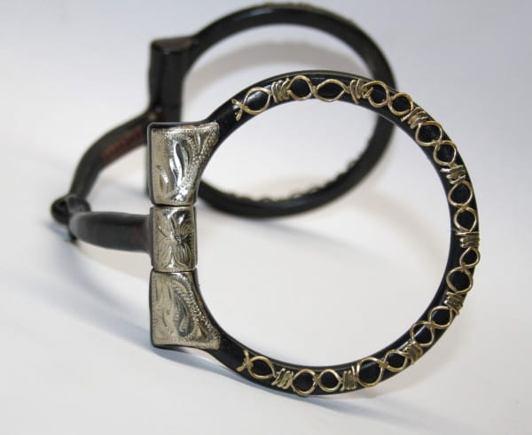 D-Ring Show Snaffle Black Steel