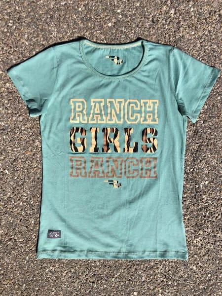 Ranchgirls Ranch Girl Ranch T-Shirt Lindgrün